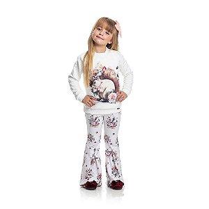Calça Flare Inverno Infantil Menina
