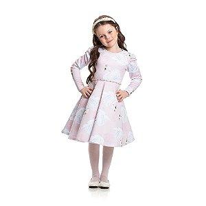 Vestido Godê Neoprene Infantil Menina