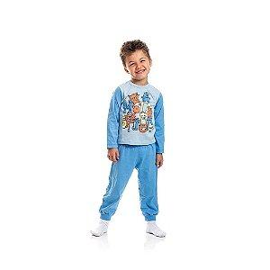 Pijama Infantil Menino Brilha no Escuro Azul