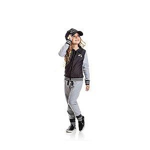 Conjunto Jaqueta Jeans e Calça Jogger Jeans Infantil Menina