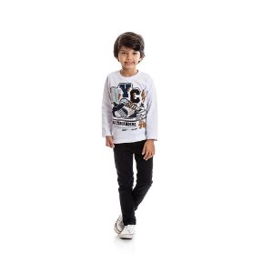 Camiseta Manga Longa Skatebording Infantil Menino