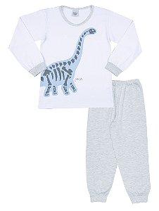 Pijama Longo Infantil Menino Dinossauros