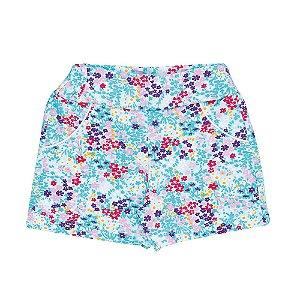 Shorts Flores Infantil Menina