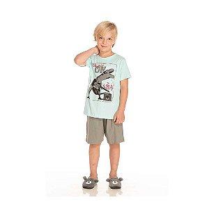 Pijama Dinossauro Guitarrista que Brilha no Escuro Infantil Menino
