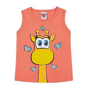 Regata Girafa Infantil Menina Laranja
