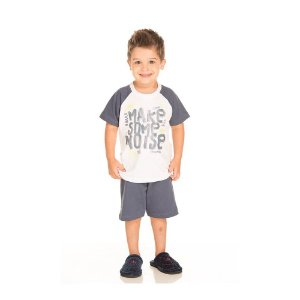 Conjunto Pijama Cinza que Brilha no Escuro Infantil Menino