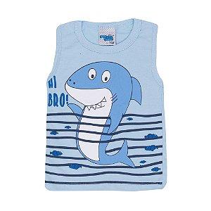 Regata Tubarão Infantil Menino Azul Bebê