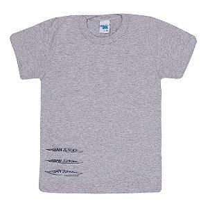 Camiseta Básica Manga Curta Infantil Menino Mescla
