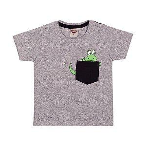 Camiseta Jacaré Infantil Menino Mescla