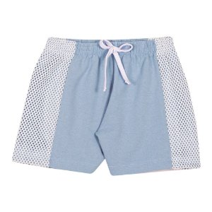 Short Moletinho Infantil Menina Azul