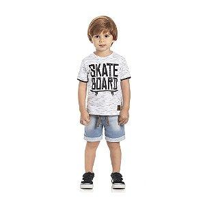 Camiseta Skate Manga Curta Infantil Menino