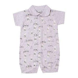 Macacão Curto Milk Infantil Menino