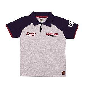 Camiseta Polo New York Infantil Menino Mescla