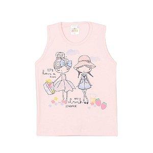 Regata Picnic Infantil Menina Rosa