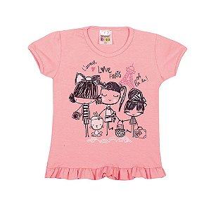 Blusa Paris Infantil Menina Rosa