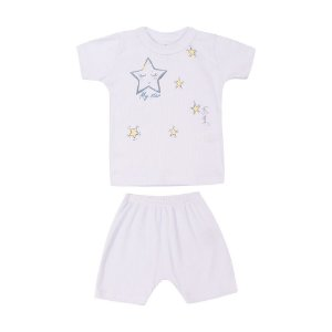 Conjunto Camiseta e Short Estrela Canelado Infantil Menino