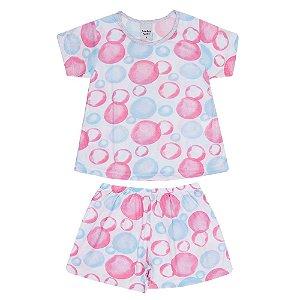 Pijama de Bolinhas Infantil Menina