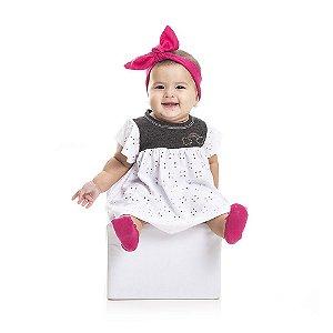 Vestido Arco-Íris Infantil Menina