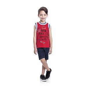 Regata Skate Infantil Menino Vermelho