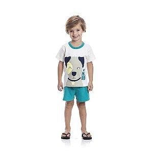 Pijama DOG Brilha no Escuro Infantil Menino Preto