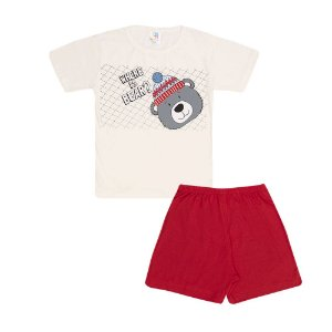 Pijama Curto Urso Infantil Menino