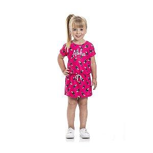 Vestido Tucaninho Infantil Menina Rosa