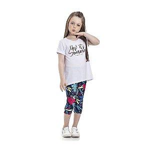 Conjunto Blusa Summer e Calça Legging Infantil Menina