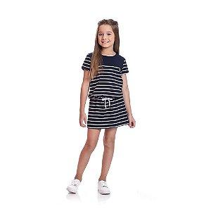 Vestido Listrado Infantil Menina