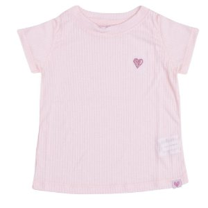 Blusa Básica Canelada Infantil Menina