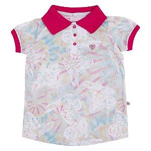 Camiseta Gola Polo Safari Infantil Menina