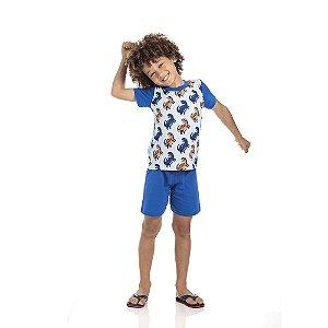 Pijama Dinossauro Brilha no Escuro  Infantil Menino