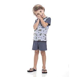 Pijama Dinossauro Espacial Infantil Menino