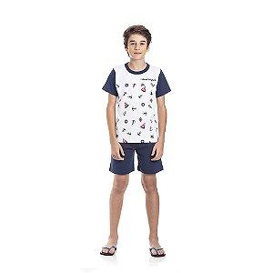 Pijama Marinho Brilha no Escuro Infantil Menino