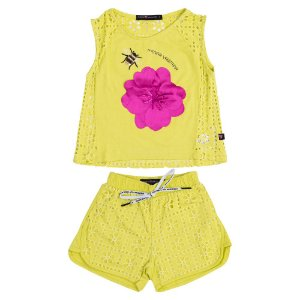 Conjunto Blusa e Short Neon Infantil Menina