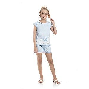 Pijama Ovelinha Brilha no Escuro Infantil Menina