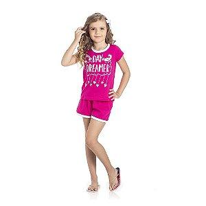 Pijama Unicórnio Brilha no Escuro Infantil Menina