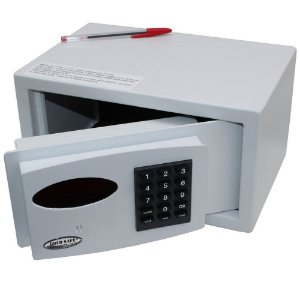 Cofre Digital Eletrônico Pequeno Box Senha e abertura automática c/ Auditoria de Senhas