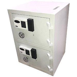 Cofre Eletrônico Boca de Lobo Duas Portas Chave Gorja e Fechadura Eletrônica Auditoria MC Duplo
