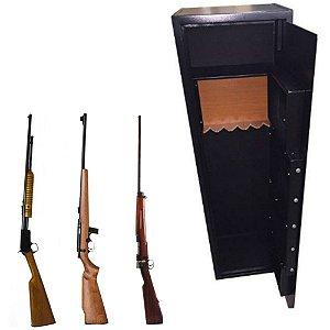 Cofre Eletrônico para Armas e Munições c/ Auditoria Safe Gun 1.45 Black