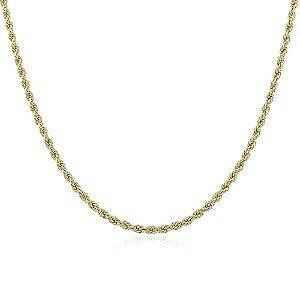 Colar cordão baiano 4mm de 45cm no ouro 18k