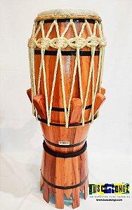 Atabaque tradicional  de corda com afinação em Cunha