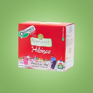 Chá de Hibisco Orgânico – 10 sachês.