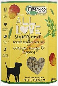 Biscoito Orgânico SuperFood Cenoura, Manga e Tapioca – 150grs.