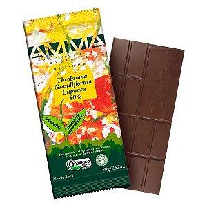 Chocolate Orgânico AMMA 80% Theobroma Grandiflorum Cupuaçu – 80grs.