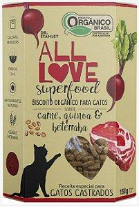 Biscoito Orgânico SuperFood Carne, Quinoa e Beterraba – 150grs.