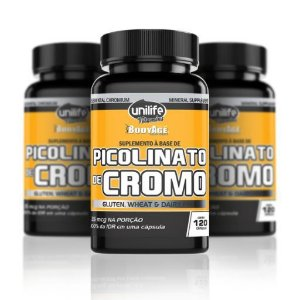Picolinato de Cromo 35mcg - 120 Cápsulas Unilife