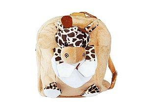 Mochila Infantil Bichinho de Pelúcia - Girafa