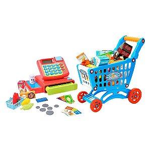 Caixa Registradora Hora das Compras com Carrinho DM TOYS - DMT5963