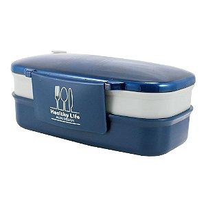 Pote Marmita de 2 Andares 1200ml Concept Mais Azul Jacki Design - AHX21826