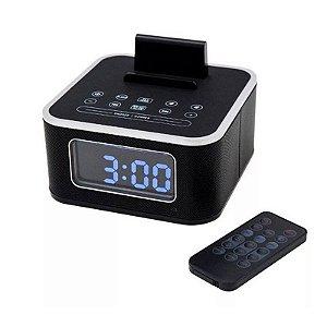 Rádio Relógio Antifurto Digital com USB Panther